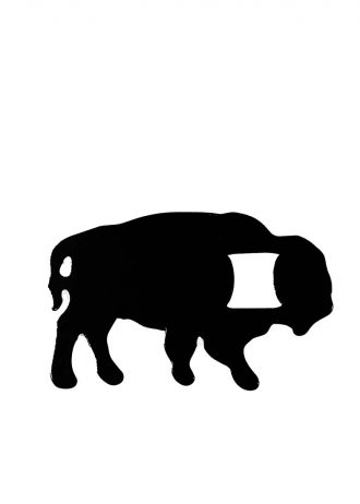 Black Buffalo Bottle Opener